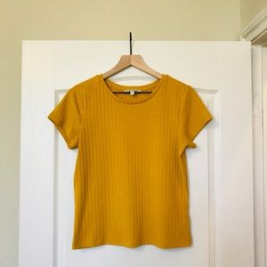 EUC Express One Eleven Ribbed Tee - Size L